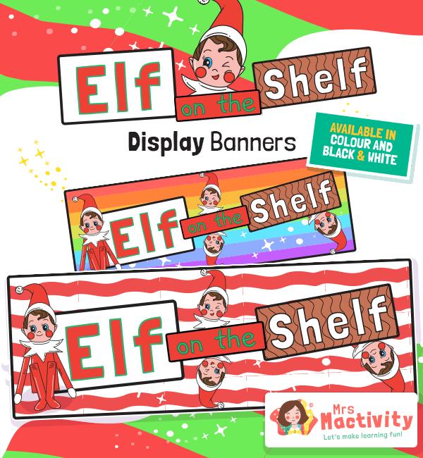 Elf on the Shelf Display Banners