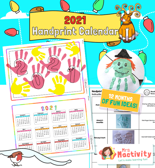 2021 Handprint Calendar Instructions Activity