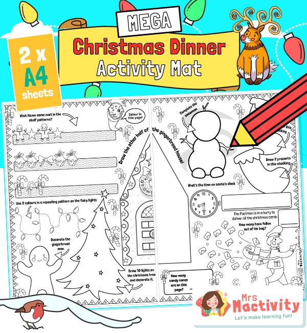 Christmas Dinner Children's Activity Mat