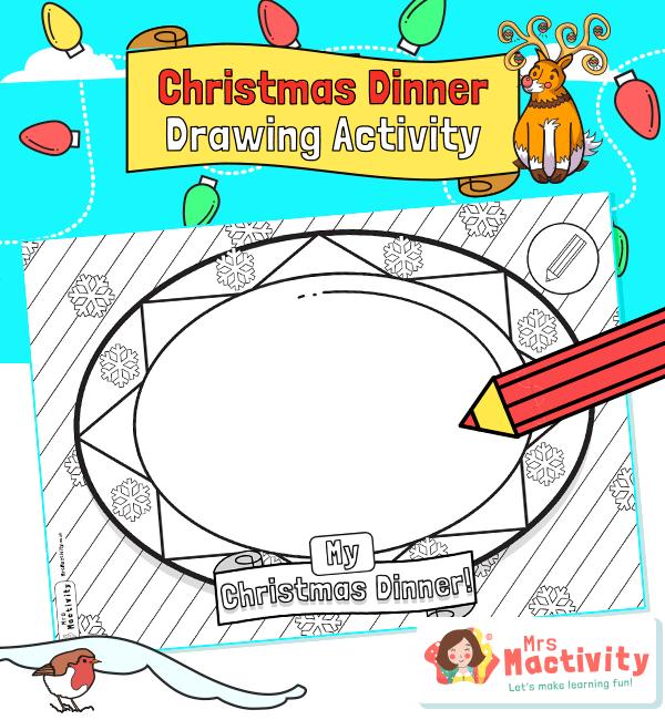 Draw a Christmas Dinner Activity