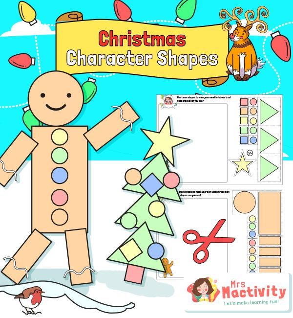 Christmas Maths Shape Activity