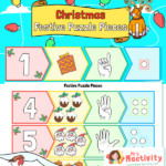 Christmas Number Match to 10 Puzzle Activity