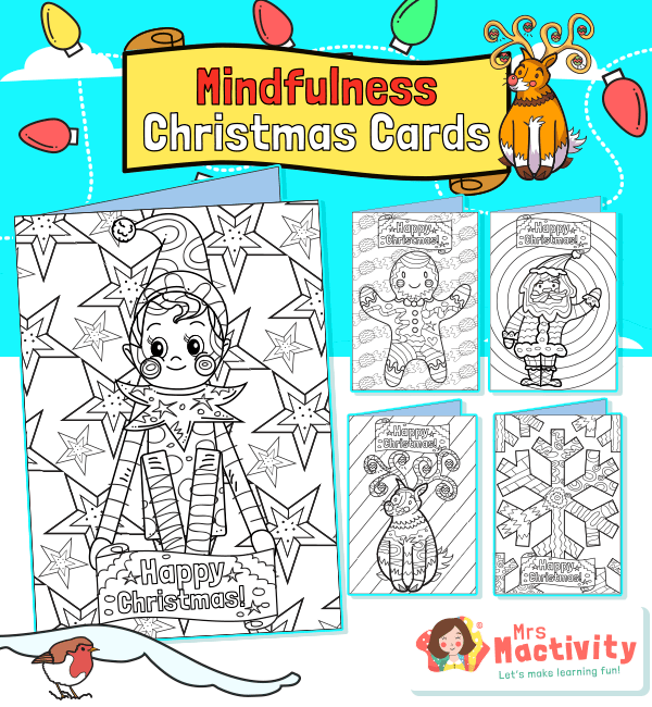 Christmas Mindfulness Colouring Cards