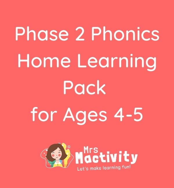 Phase 2 phonics home learning pack