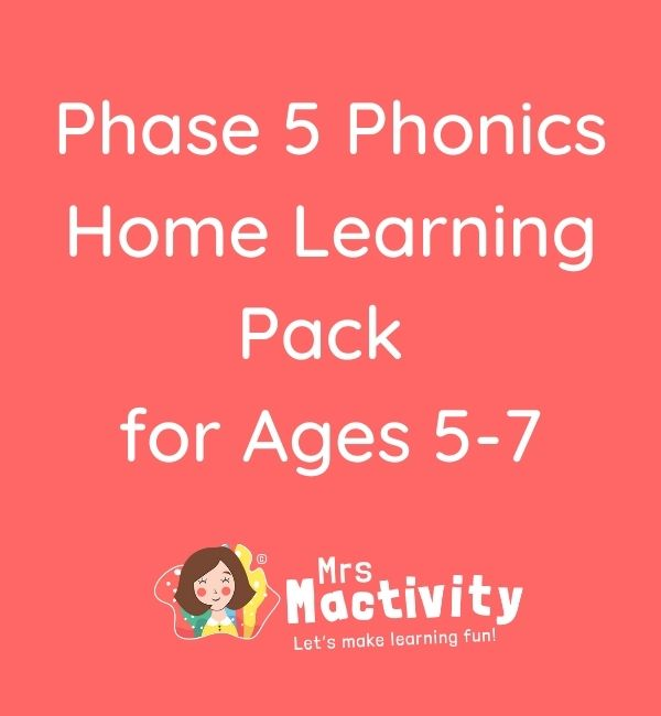 Phase 5 Phonics Home Learning Resource Pack