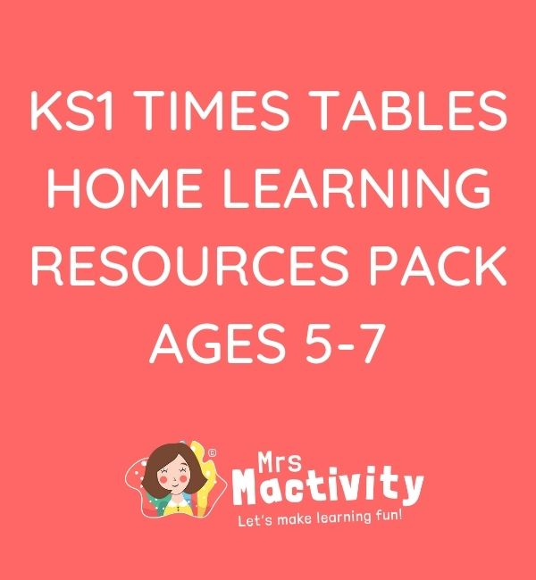 KS1 (age 5-7) Times Tables Home Learning Resource Pack