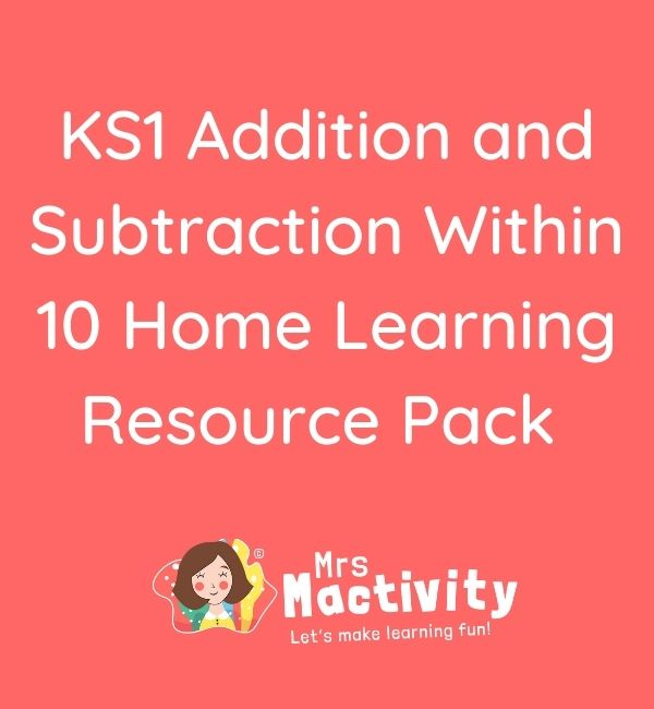 KS1 Addition Within 10 Resource Pack
