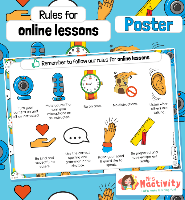 Rules for Online Lessons Poster