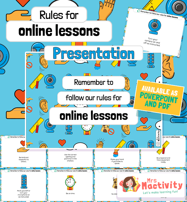 Rules for Online Lessons PowerPoint Presentation