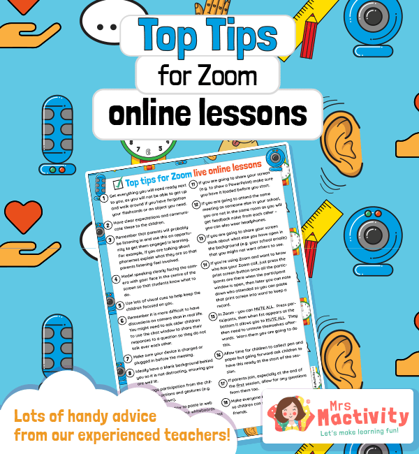 Top tips for teaching online lessons