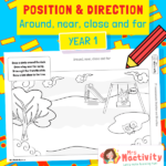 Positional Language Drawing Activity - Around, Near, Close and Far