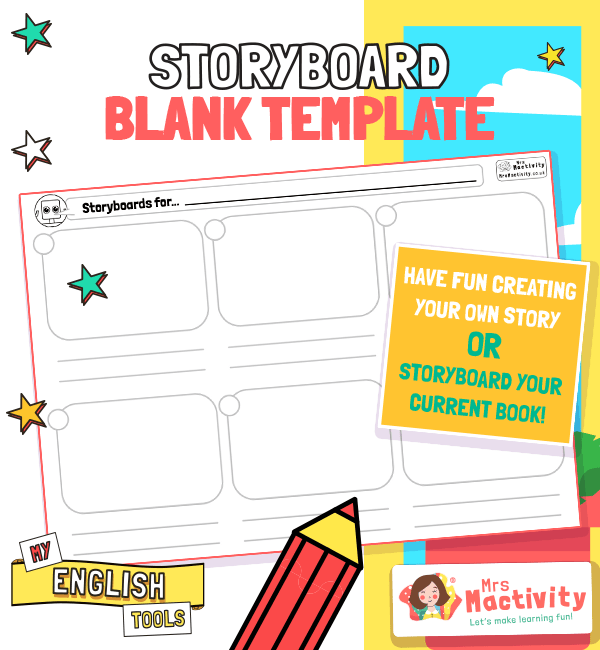 English Writing Storyboard Template