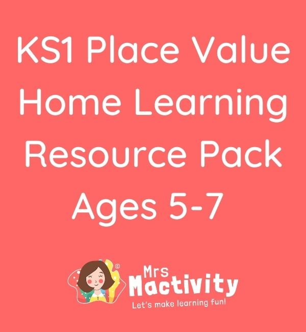 KS1 Place Value Home Learning Resource Pack