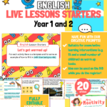 Year 1 and 2 English Live Lesson Warm-up Activities