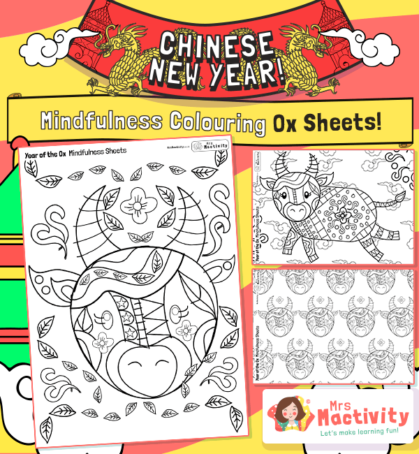 Year of the Ox Mindfulness Colouring Pages