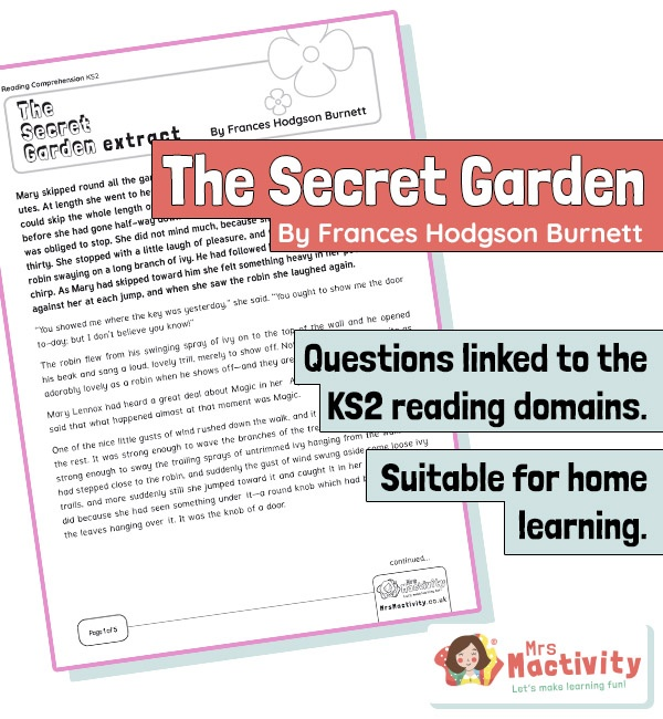Year 4 Reading Comprehension - The Secret Garden