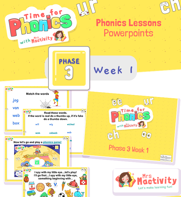 Phonics PowerPoint Phase 3 Week 1