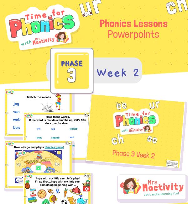 Phonics PowerPoint Phase 3 Week 2
