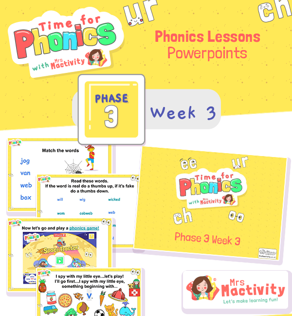 Phonics PowerPoint Phase 3 Week 3