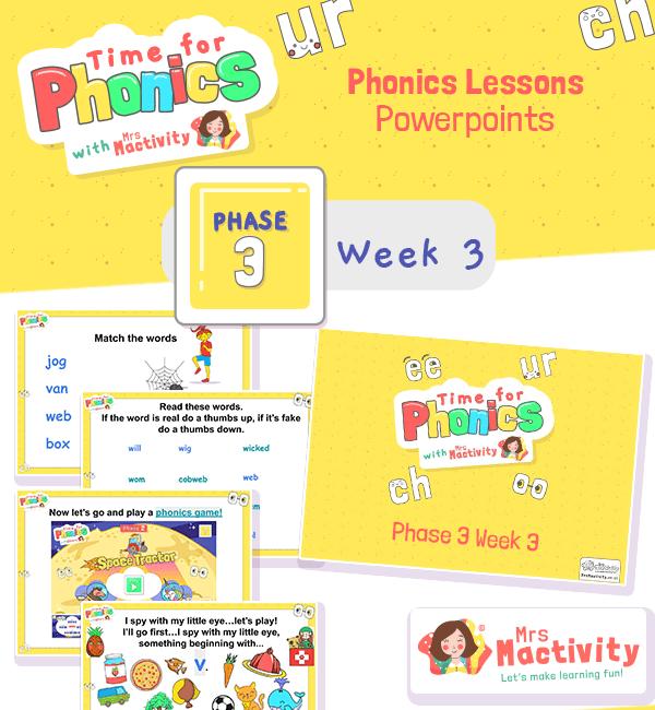 Phonics PowerPoint Phase 3 Week 3