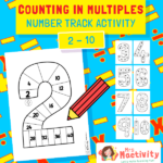 Counting in Multiples Number Track Activity - Plain