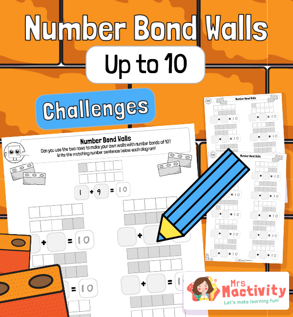 Number Bonds to 10 Practice Worksheets