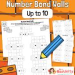 Number Bonds to 10 Practice Worksheets - Blank