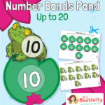 Frog and Lily Pad Number Bonds to 20 Worksheet