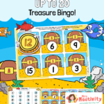 Numbers to 20 Treasure Island Bingo Game