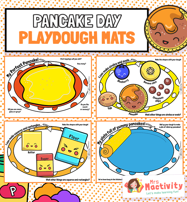 Pancake Day Playdough Mats