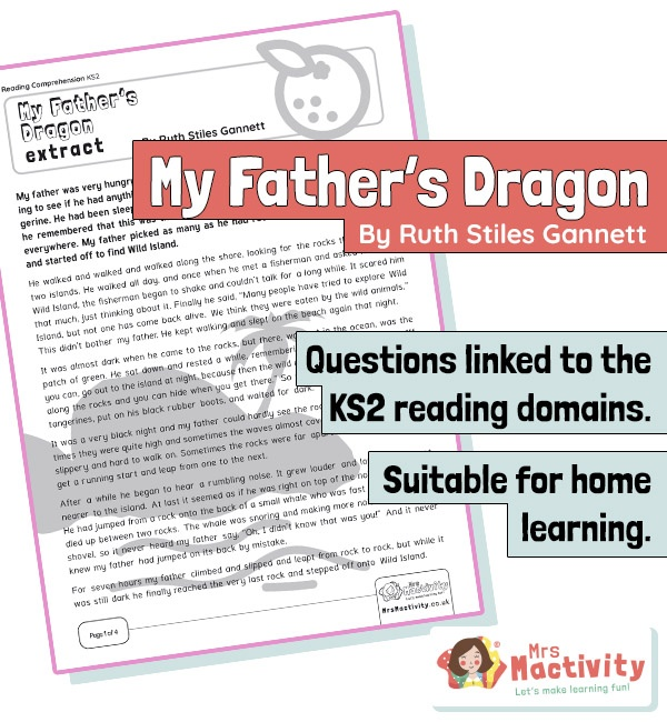 Year 3 Reading Comprehension - My Father's Dragon