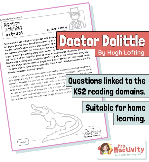 Year 5 Reading Comprehension - Dr Doolittle