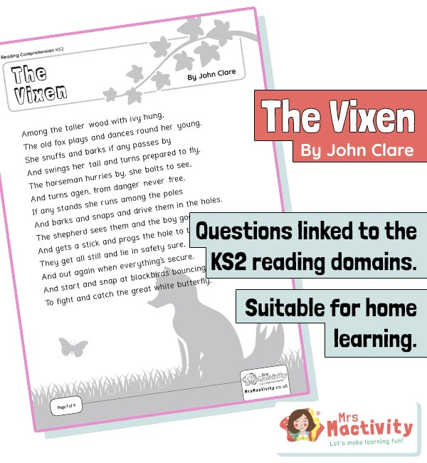 Year 6 Reading Comprehension - The Vixen