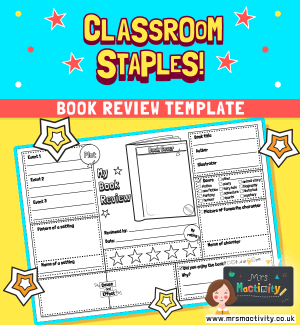 book review template world book day