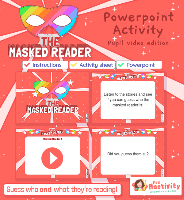 world book day masked reader powerpoint EYFS KS1 KS2