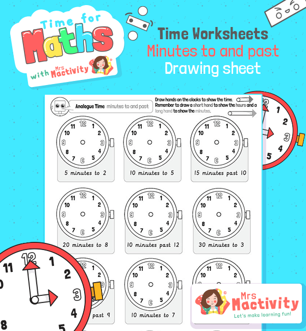 maths time worksheet year 2