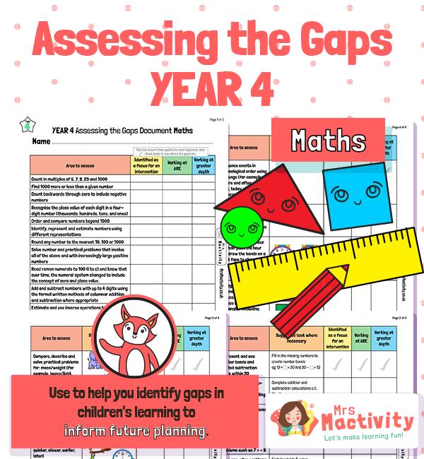 year 4 maths assessments