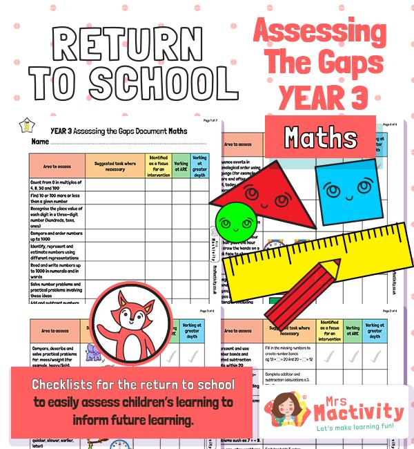 Assess the Gaps Math Year 3