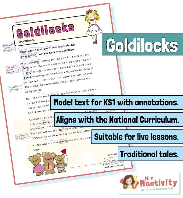 KS1 model text resources