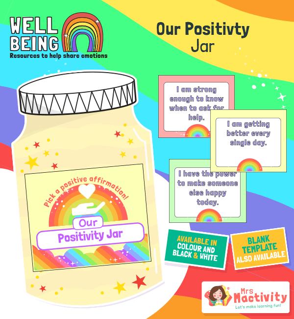 Wellbeing Positivity Jar Activity COLOUR