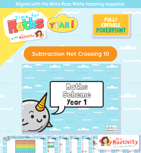 white rose maths subtraction not crossing 10