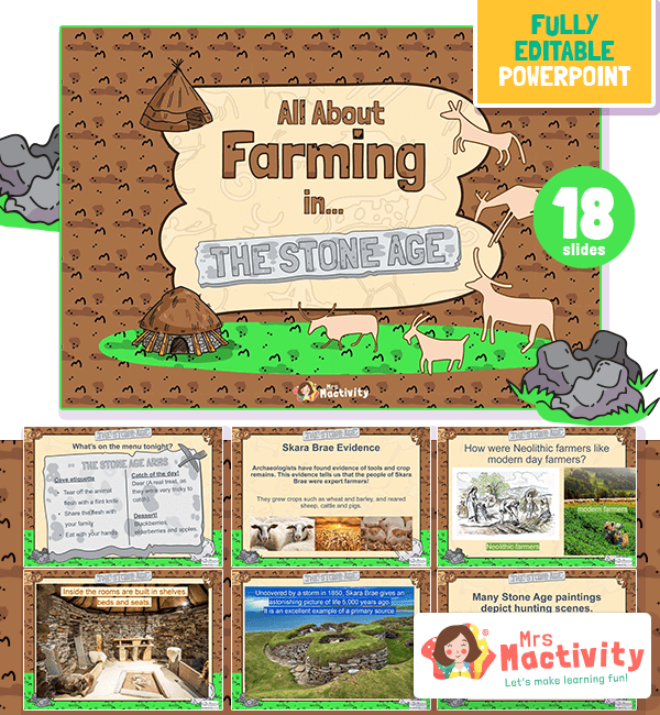 Stone Age farming lesson powerpoint KS2