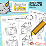 Number fact family worksheet to 20