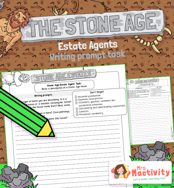 Stone Age estate agent task sheet 2
