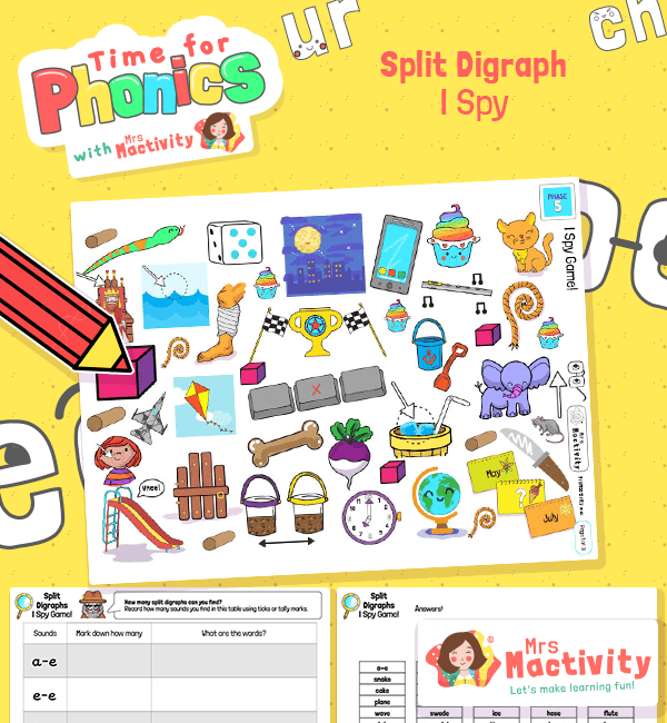 Split Digraph I Spy Activity - Phase 5