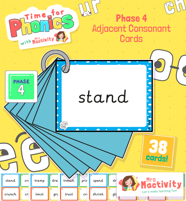 Phase 4 Adjacent Consonants Flashcards phase 4