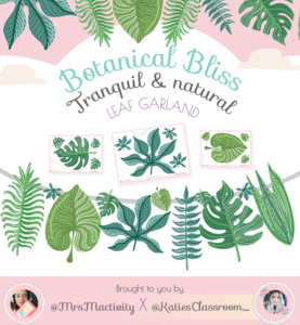 Botanical Bliss Display Leaf Garland - Katie's Classroom Range