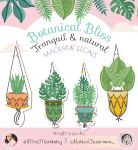 Botanical Bliss Display Macramé Decals - Katie's Classroom Range