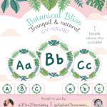 Botanical Bliss Display Alphabet Discs - (Katie's Classroom Range)