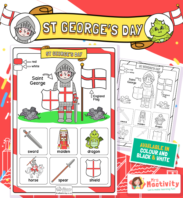 st georges day Word mat poster